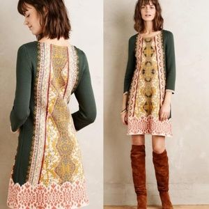 Anthropologie Tapestry Lanka Knit Green Dress